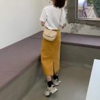 Прямая вельветовая юбка