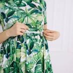 """Платье """"Листья"""" миди"""