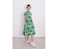 Платье Листья миди